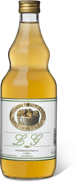 Botella de LG apple-cider vinegar 3/4l.