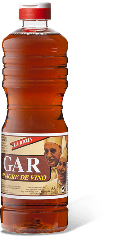 Botella de GAR red wine vinegar 1/2l.
