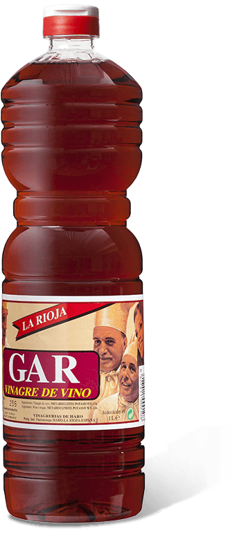 Botella de GAR red wine vinegar 1l.
